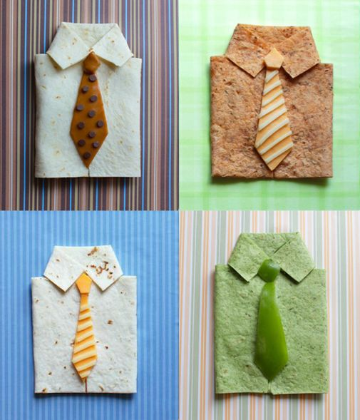 Shirt and Tie quesadillas_all four (1)