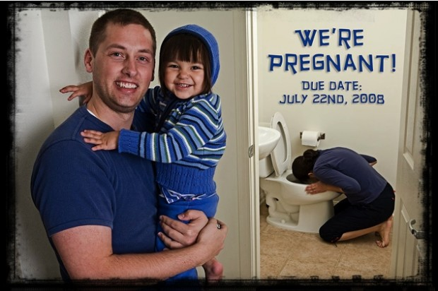 Pregnancy-Announcement-and-Morning-Sickness
