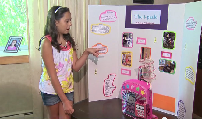 """e858b2f51e 11-Year-Old Girl Invents """"Chemo Backpack"""" to Help Cancer Patients ..."""