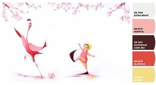 flora flamingo palette