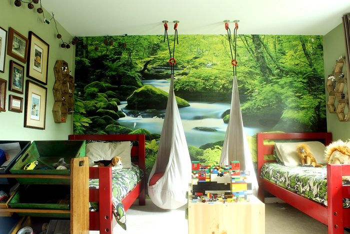 Kids room ideas using photo wall murals houston family for Children wall mural ideas