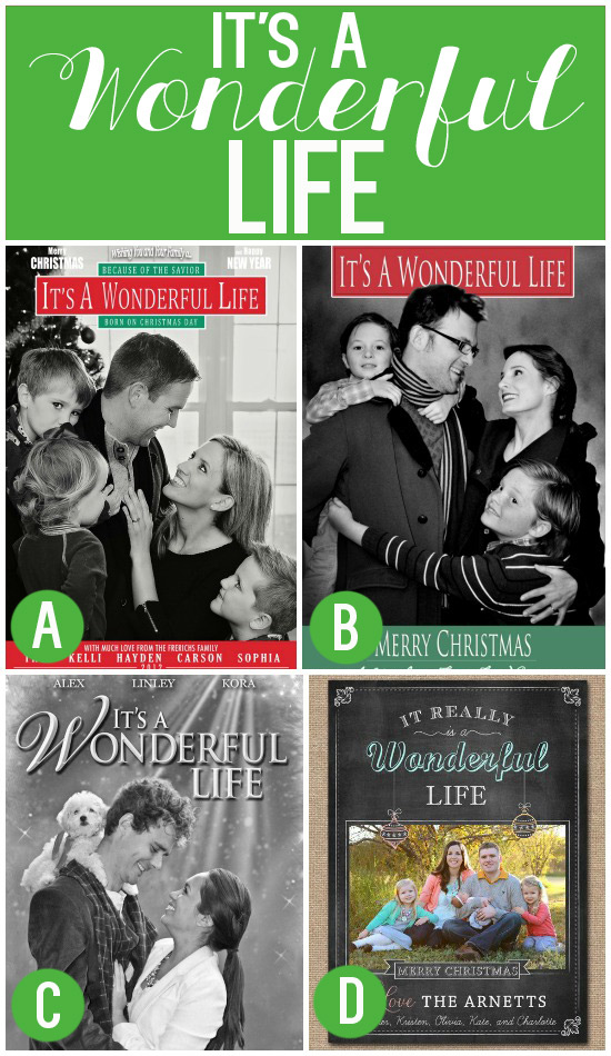 Its A Wonderful Life Family Christmas Card Idea 4f8863c8bd3bc88e085bf34a9d4c839b