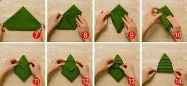 DIY: Christmas Tree Napkin Folding