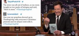 "Jimmy Fallon reads ""Thanksgiving Fail"" Tweets"