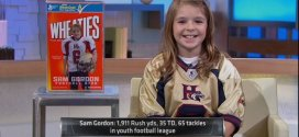 11 year old girl Sam Gordon is a little league football phenom