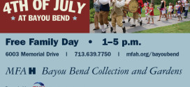 Celebrate 4th of July at Bayou Bend!