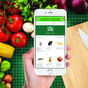 The Instacart App allows you to order online and have food delivered!