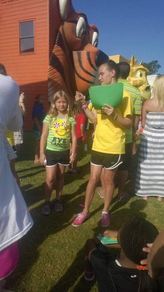On the last day of camp, each cabin's counselor handed out awards to the campers who displayed certain Christian character traits. I got the Wisdom award!