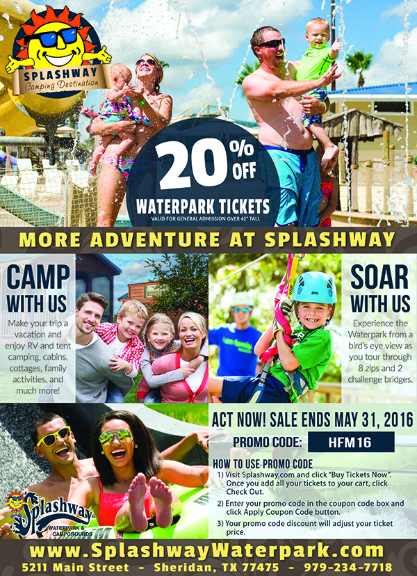 Save Big At Splashway Waterpark Campgrounds Houston Family Magazine