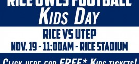 Kids Day with the Rice Owls: FREE Kids Tickets!